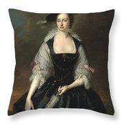 Portrait Of Lady Frances Courtenay Throw Pillow