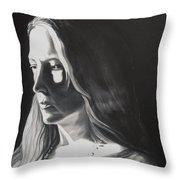 Portrait Of Leah S. Throw Pillow