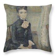 Portrait Of Leonie Rose Charbuy-davy Paris  March  April 1887 Vincent Van Gogh 1853  1890 Throw Pillow