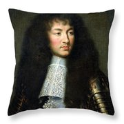 Portrait Of Louis Xiv Throw Pillow