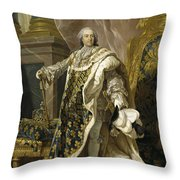 Portrait Of Louis Xv Of France Throw Pillow