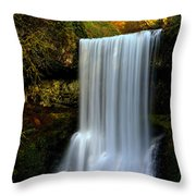 Portrait Of Lower South Falls Throw Pillow