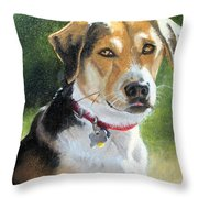 Portrait Of Lucy In Nj Throw Pillow