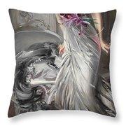 Portrait Of Madame Eugene Doyen Throw Pillow
