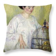 Portrait Of Madame Frieseke Throw Pillow