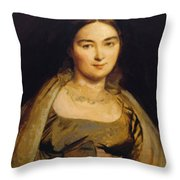 Portrait Of Madame Ingres Throw Pillow