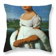Portrait Of Mademoiselle Riviae 1805 Throw Pillow