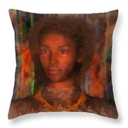 Portrait Of Maillie Throw Pillow
