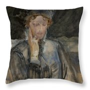 Portrait Of Maria Bal Throw Pillow