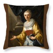 Portrait Of Maria Cavalcanti Ametrano Duchess Of San Donato Throw Pillow