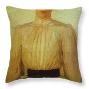 Portrait Of Maria Tolstaya Leo Tolstoy Daughter Throw Pillow