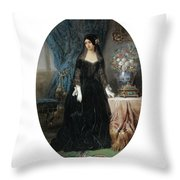 Portrait Of Marie Duplessis Throw Pillow