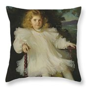 Portrait Of Marjorie Coldwell Westinghouse  Throw Pillow