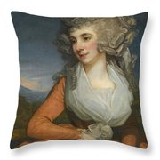 Portrait Of Mary Livius Throw Pillow