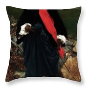 Portrait Of May Sartois Throw Pillow