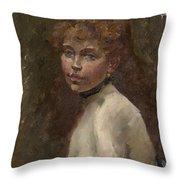 Portrait Of Mery Laurent Throw Pillow