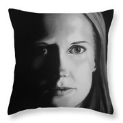 Portrait Of Michelle C. #3 Throw Pillow
