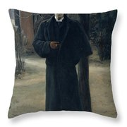 Portrait Of Miquel Utrillo Throw Pillow