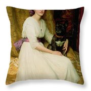 Portrait Of Miss Dorothy Dicksee  Throw Pillow