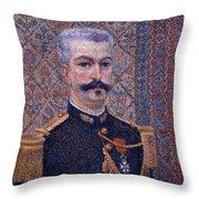 Portrait Of Monsieur Pool 1887 Throw Pillow