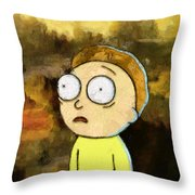Portrait Of Morty Throw Pillow