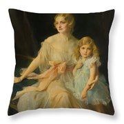 Portrait Of Mrs Claude  Throw Pillow
