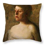 Portrait Of Mrs W H Bowden 1906 Throw Pillow