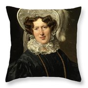 Portrait Of Mrs Wartfeld Throw Pillow