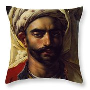 Portrait Of Mustapha Throw Pillow