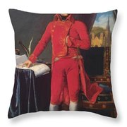 Portrait Of Napolan Bonaparte The First Council 1804 Throw Pillow