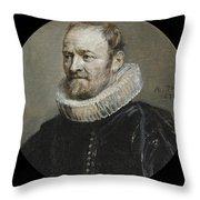 Portrait Of Nicholas Rockox Throw Pillow
