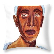 Portrait Of Old Man Throw Pillow