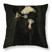 Portrait Of Oopjen Coppit Throw Pillow