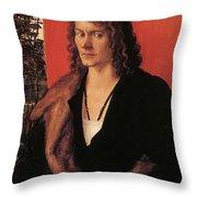 Portrait Of Oswolt Krel 1499 Throw Pillow