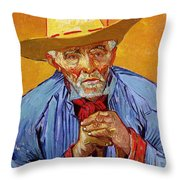 Portrait Of Patience Escalier Throw Pillow