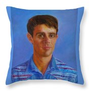 Portrait Of Canadian Operatic Tenor Paul Ouellette  Throw Pillow