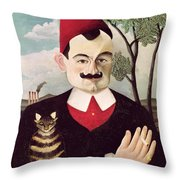 Portrait Of Pierre Loti Throw Pillow