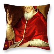 Portrait Of Pope Pius Throw Pillow