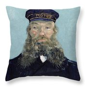 Portrait Of Postman Roulin Throw Pillow by Vincent van Gogh