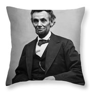 Portrait Of President Abraham Lincoln Throw Pillow