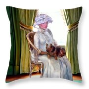 Portrait Of Prudence Throw Pillow