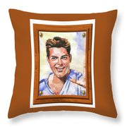Portrait Of Ricky Martin Throw Pillow