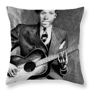 Portrait Of Robert Johnson Throw Pillow