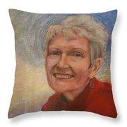 Portrait Of Ruth Sentelle Throw Pillow