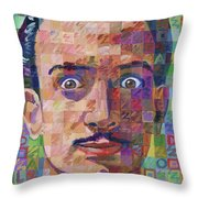 Portrait Of Salvador Dali Throw Pillow
