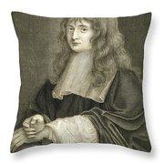 Portrait Of Sir Isaac Newton Throw Pillow