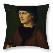 Portrait Of The Artist's Father  Throw Pillow