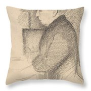 Portrait Of The Artists Mother Throw Pillow