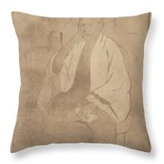 Portrait Of The Artist's Mother Throw Pillow