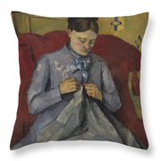 Portrait Of The Artist's Wife Throw Pillow
